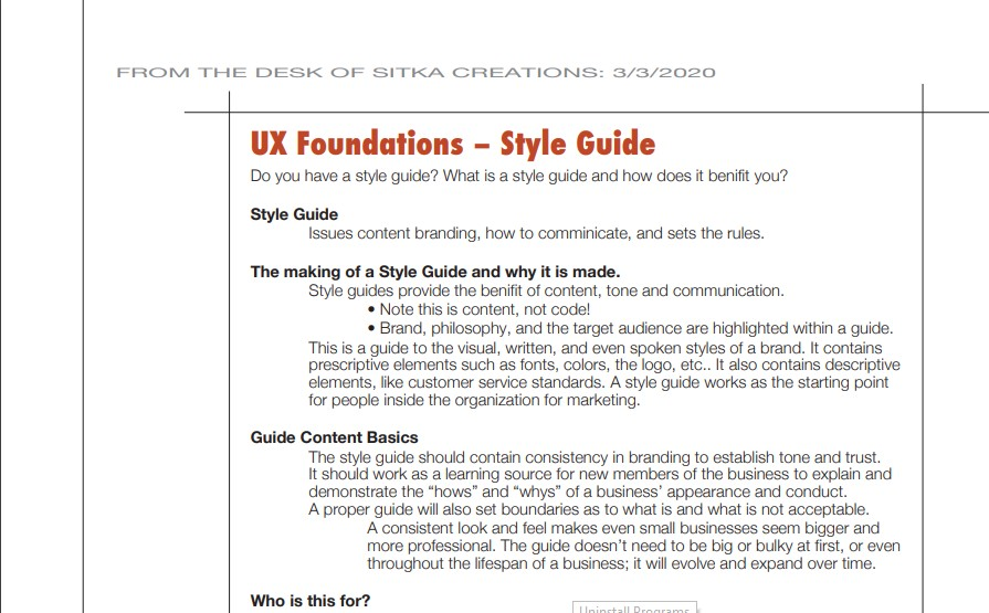 Read more about the article Spring Marketing tips – UX Foundations – Style Guide