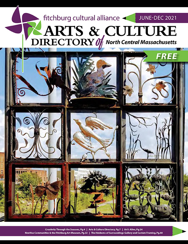 Cover design for the Fitchburg Cultural Alliance Arts & Culture Directory of North Central Massacusetts.
