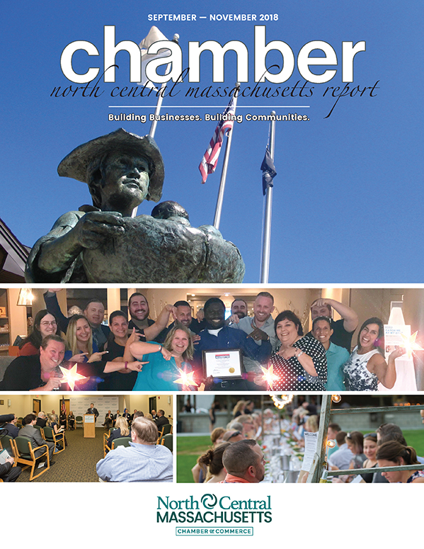 Cover design for the North Central Chamber of Commerce Fall 2018 Report.