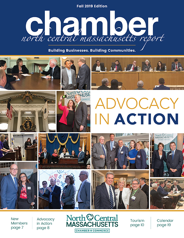 Cover design for the North Central Chamber of Commerce Fall 2019 Report