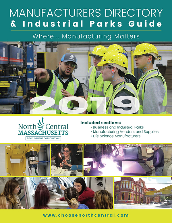 Cover design for the North Central Chamber of Commerce 2019 Manufacturing Guide