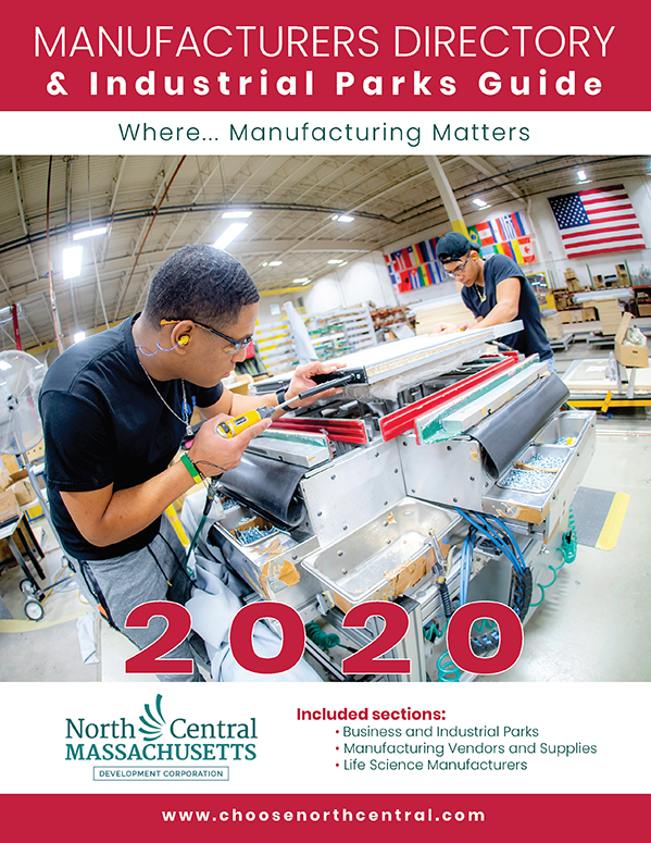 Cover design for the North Central Chamber of Commerce 2020 Manufacturing Guide