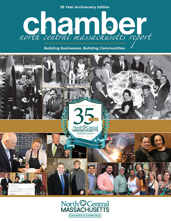 Cover design for the North Central Chamber of Commerce Spring 2019 Report