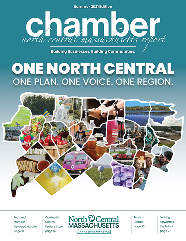 Cover design for the North Central Chamber of Commerce Summer 2021 Report