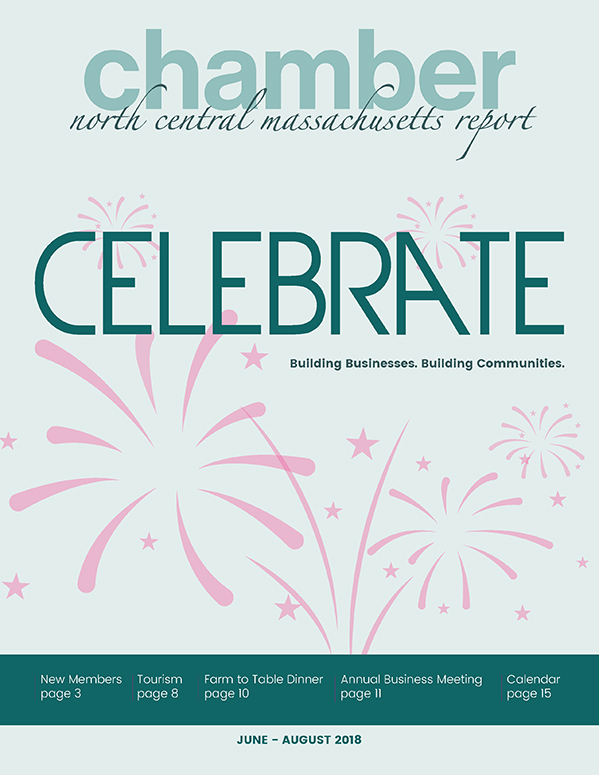 Cover design for the North Central Chamber of Commerce Summer 2018 Report