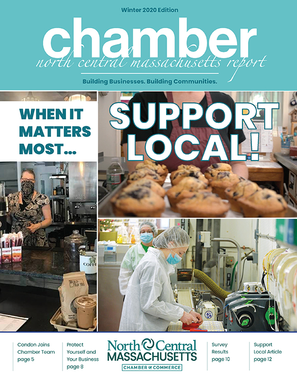 Cover design for the North Central Chamber of Commerce Winter 2020/2021 Report.