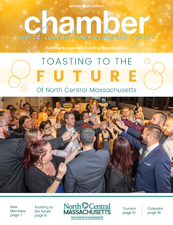 Cover design for the North Central Chamber of Commerce Winter 2020 Report .