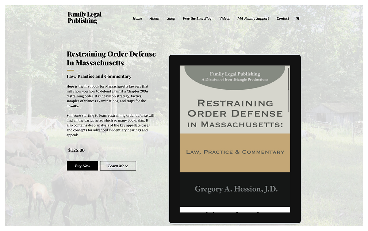 Website design for Family Legal Publishing. Designed by Sitka Creations.