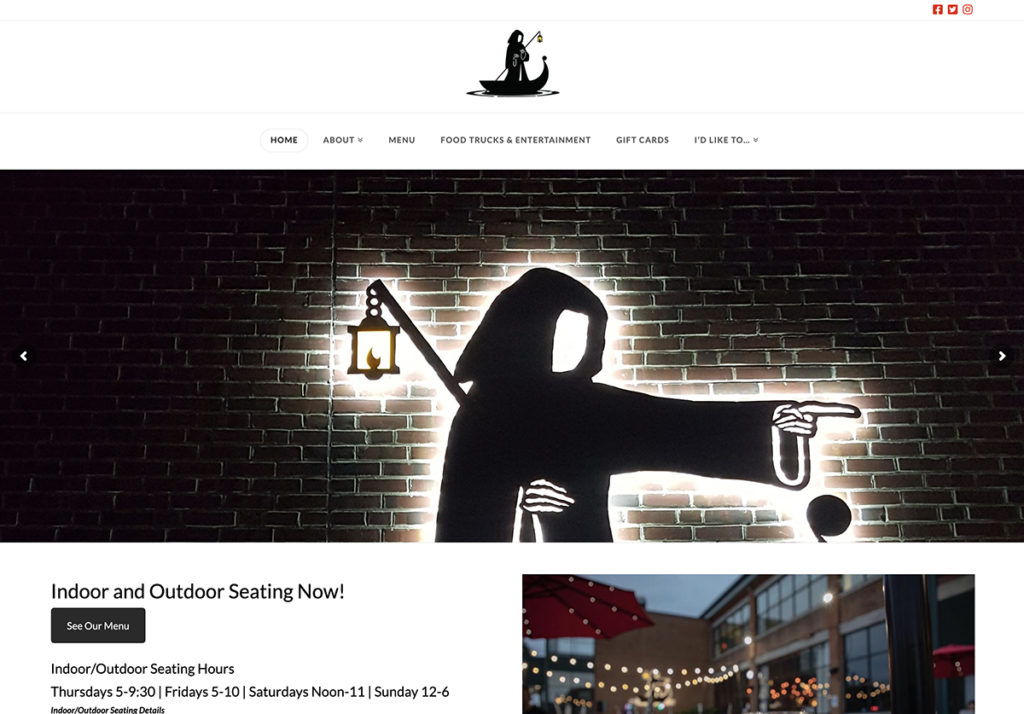 Website design for River Styx Brewing. Designed by Sitka Creations.
