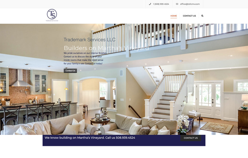 Website design for Trademark Services, LLC. Designed by Sitka Creations.