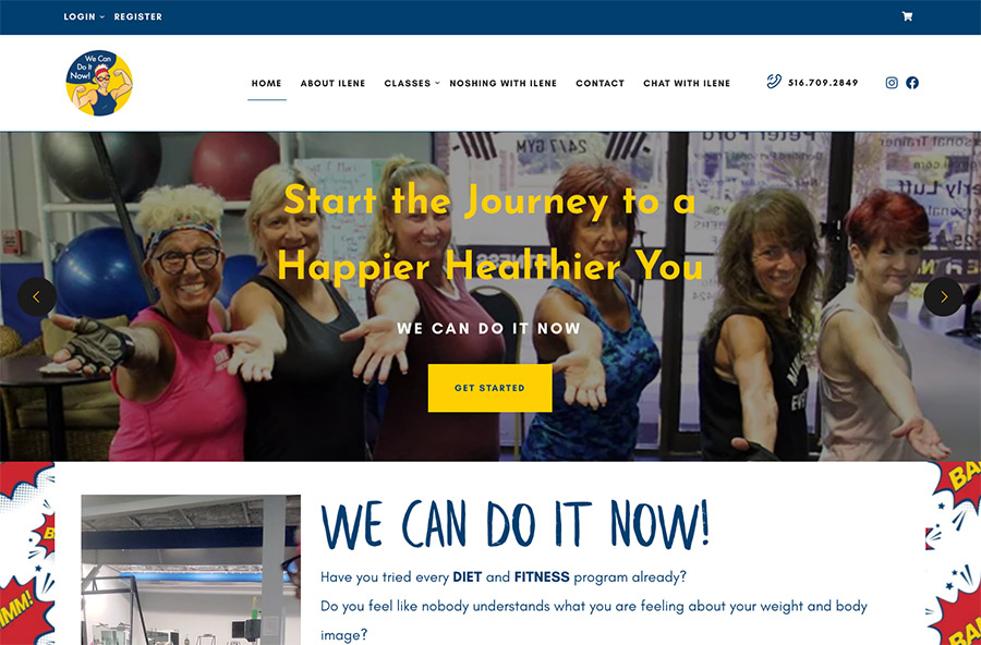 Website design for We Can Do It Now. Designed by Sitka Creations.
