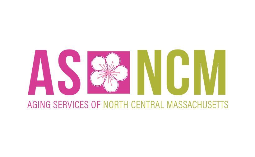 Logo design for Aging Services of North Central Massachusetts. Designed by Sitka Creations.