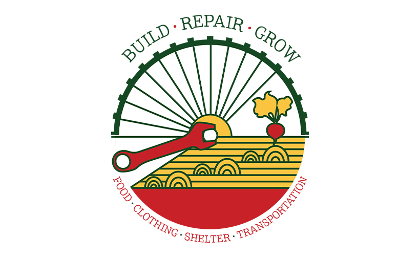 Logo design for Build Repair Grow. Designed by Sitka Creations.