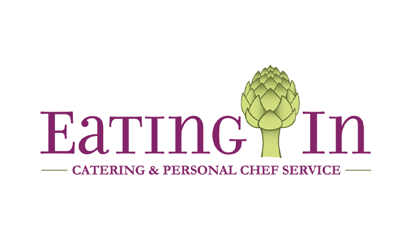 Logo design for Eating In. Designed by Sitka Creations.