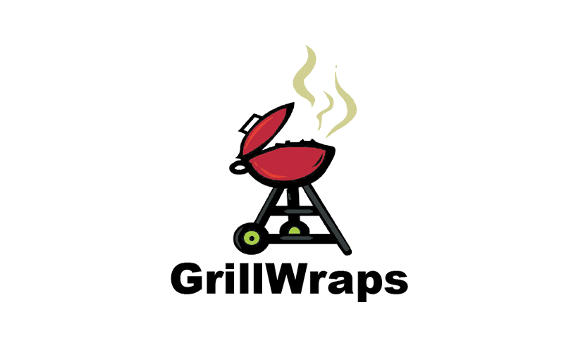 Logo design for GrillWraps. Designed by Sitka Creations.
