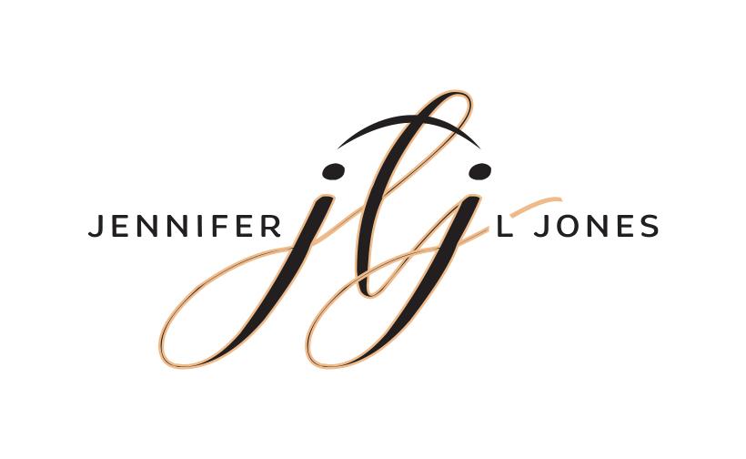 Logo design for Jennifer L Jones. Designed by Sitka Creations.