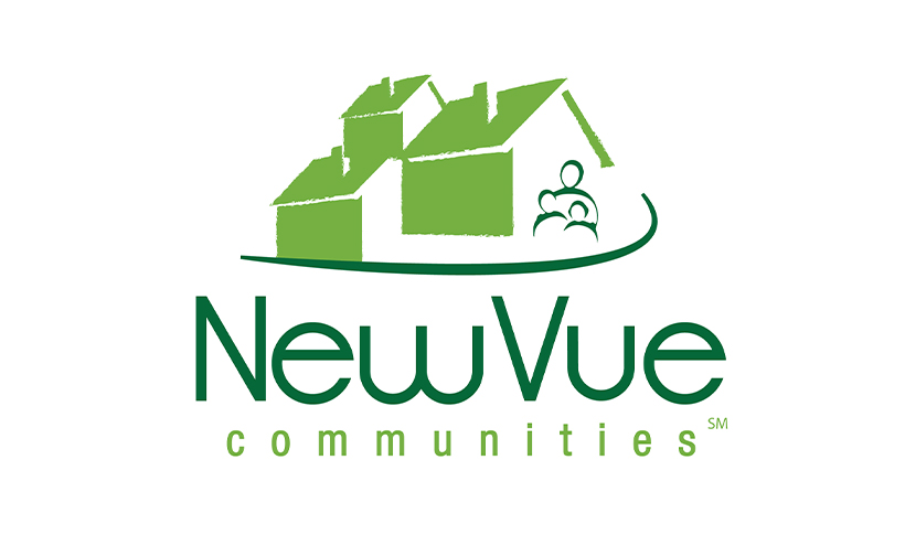 Logo design for NewVue Communities. Designed by Sitka Creations.