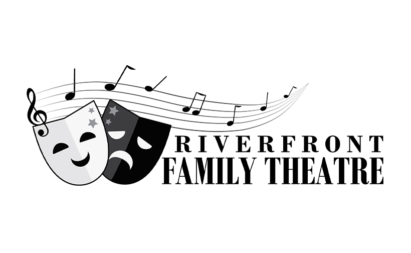 Logo design for Riverfront Family Theatre. Designed by Sitka Creations.