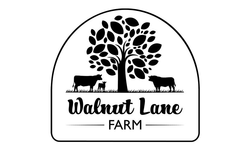Logo design for Walnut Lane Farm. Designed by Sitka Creations.