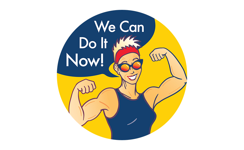 Logo design for We Can Do It Now. Designed by Sitka Creations.