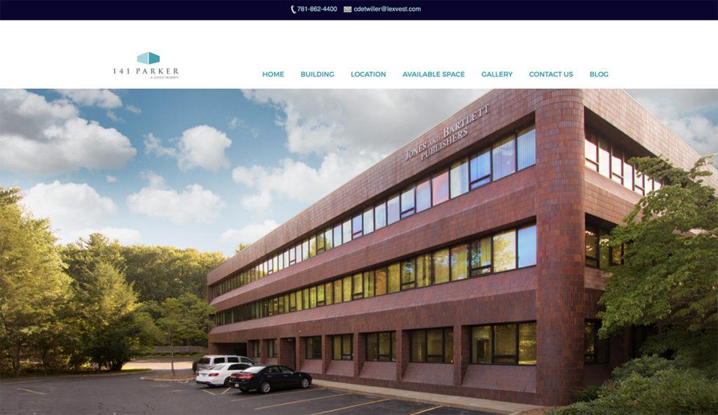 Website design for 141 Parker. Designed by Sitka Creations.