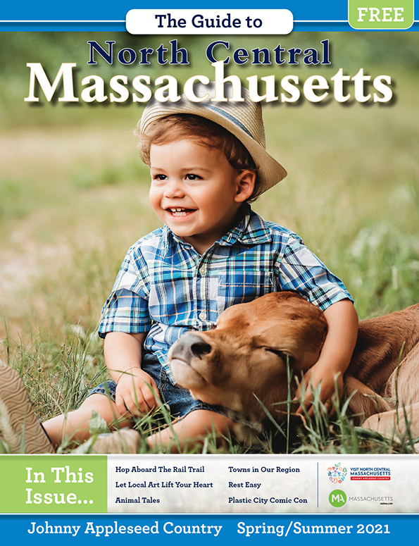 Cover design for The Guide To North Central Massachusetts - Spring/Summer 2021